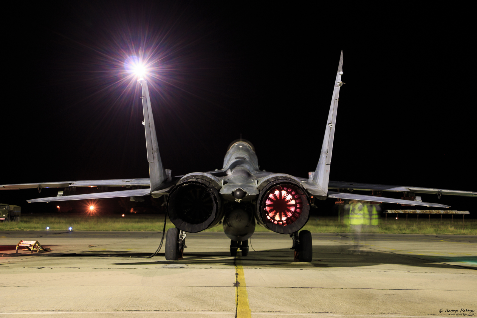 Night flights at Graf Ignatievo Airbase