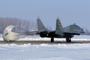Кацане на МиГ-29УБ