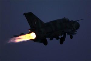 Излитане на форсаж на МиГ-21бис