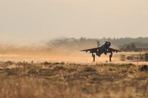 МиГ-21бис излита в знойната жега