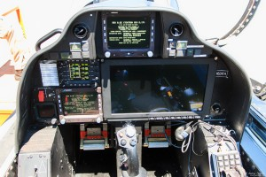Textron Scorpion back cockpit