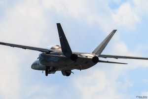 Textron Scorpion take off with BuAF pilot on board