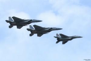 Смесена формация МиГ-29 и F-15C