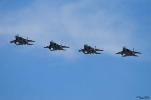 Four USAF F-15 arriving