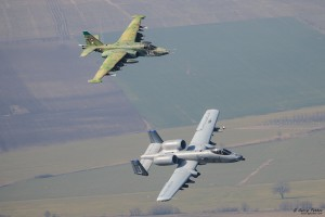 A-10 Thunderbolt II and Su-25 Frogfoot together