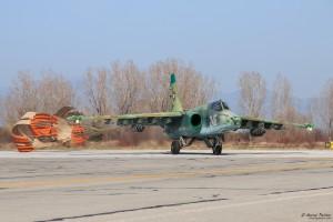 Су-25 рулира след кацане
