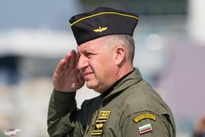 Командващия ВВС на България - ген. м-р Цанко Стойков